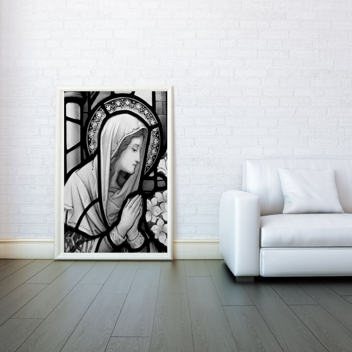 Black Jesus Wall Art: Mary Mother Of Jesus Decorative Arts Prints & Posters Wall