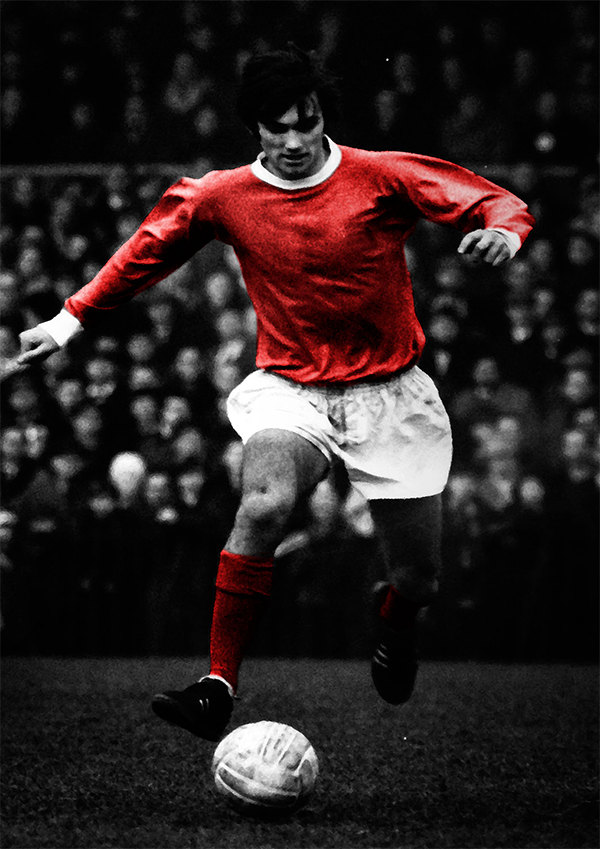 George best manchester united decorative arts prints posterswall art print