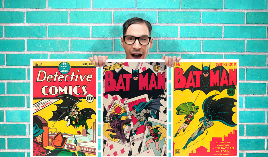 Old Batman DC Comic Collection of 3 Art Work - Wall Art Print Poster Pick A  Size - Comic Art Geekery