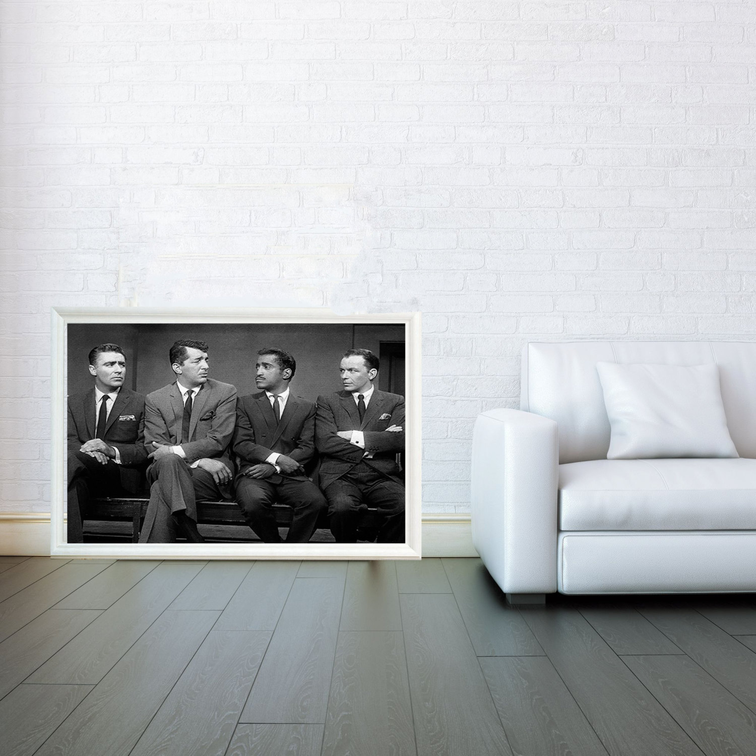 Rat Pack Mosaic Decorative Arts Prints Posters Wall Art Print Poster Any Size Black And White