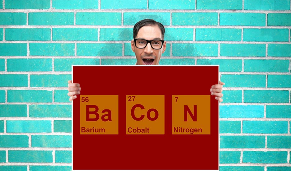 Bacon Element Periodic Table Art Pint Wall Print Poster Purple Geekery